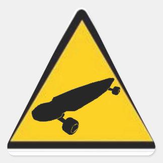 Longboard Crossing Triangle Sticker
