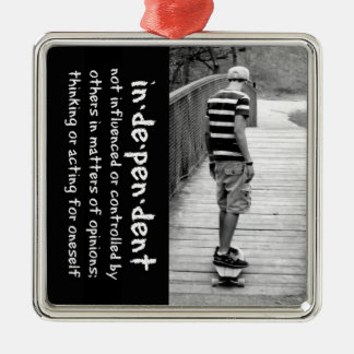 Longboard Independence Metal Ornament