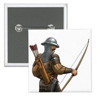 Longbowman 15 Cm Square Badge