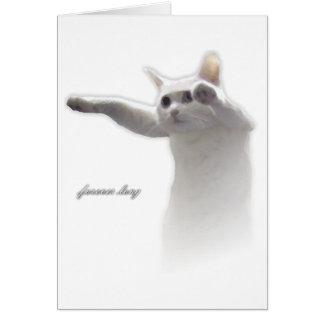 Longcat Forever Long Greeting Card