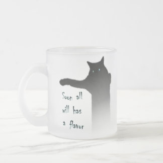 Longcat Tacgnol All has a Flavor Frosted Glass Mug