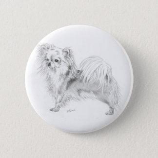 Longcoat chihuahua - standing 6 cm round badge
