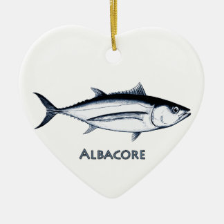 Longfin Albacore Tuna Logo Ceramic Ornament
