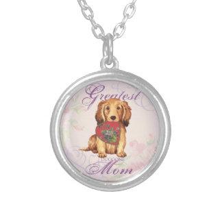 Longhaired Dachshund Heart Mom Custom Jewelry