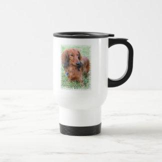 Longhaired Dachshund Travel Mug