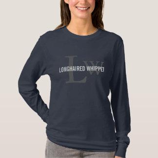 Longhaired Whippet Monograms/Dog Lovers Shirt