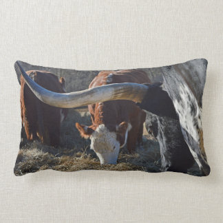Longhorn and Friends On The Farm Lumbar Cushion