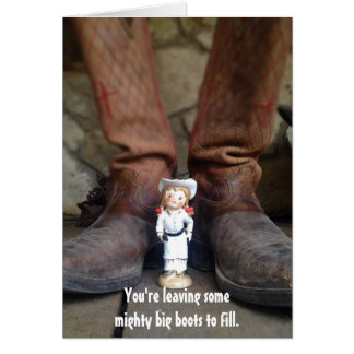 Longhorn Annie Greeting Card - Farewell