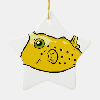 Longhorn Cowfish Ceramic Ornament