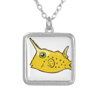 Longhorn Cowfish Silver Plated Necklace