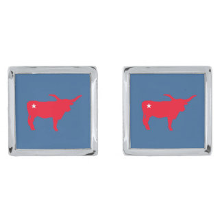 Longhorn Cufflinks Silver Finish Cufflinks