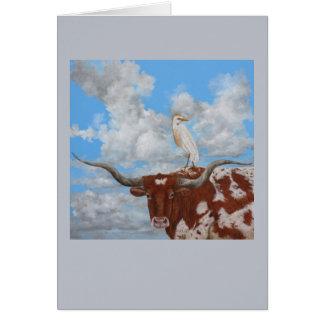 Longhorn greeting card
