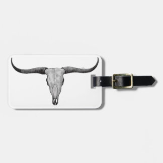 Longhorn Scull Luggage Tag