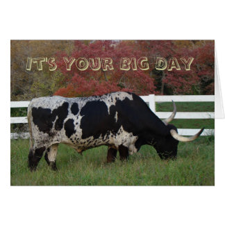 Longhorn Your Day-customize Card