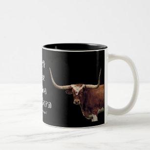 LonghornCoffeeMug-customise Two-Tone Coffee Mug