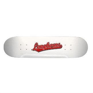 Longhorns  script logo in red skate boards
