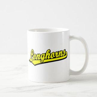 Longhorns  script logo in yellow mugs