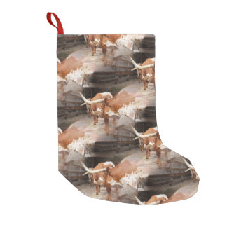 Longhorns Small Christmas Stocking
