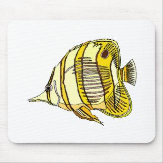 Longnose Butterfly Fish Mousepads