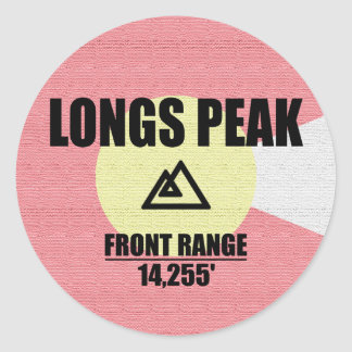 Longs Peak Classic Round Sticker