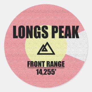 Longs Peak Round Sticker