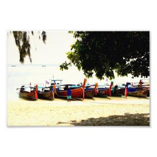 Longtail Boats on Hong Island, Thailand Print