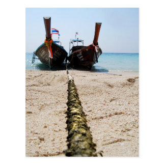 Longtail Boats POSTCARD