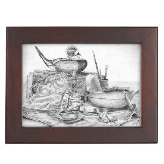 Longtail Decoy Still Life Box - Lg  (Lori Corbett)
