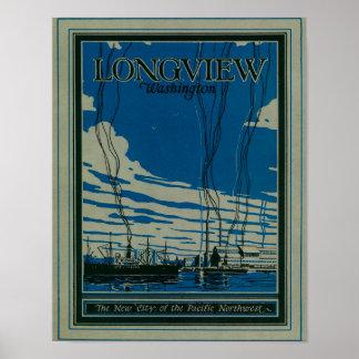 Longview, Washington Advertising Poster