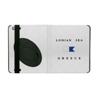 Lonian Sea Greece Alpha Dive Flag iPad Folio Case