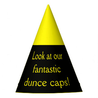 Look at our fantastic dunce caps! party hat