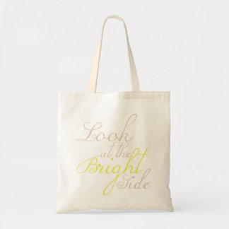 Look At The Bright Side Canvas Tote Bag