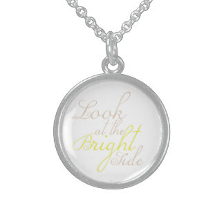 Look At The Bright Side Motivational Necklace