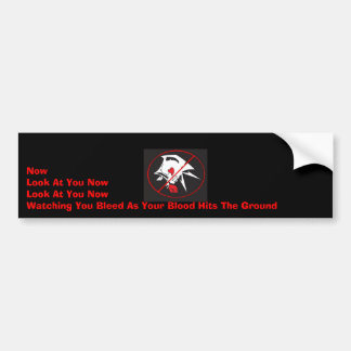 Look At You Now Bumper Sticker