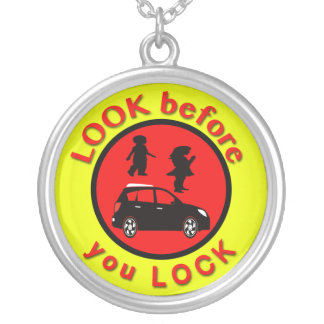 Look Before You Lock Silver Plated Necklace