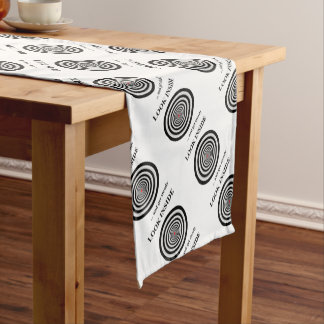 LOOK INSIDE SHORT TABLE RUNNER