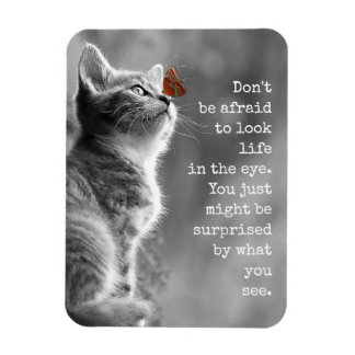 Look Life In the Eye Motivational Sayings Magnet