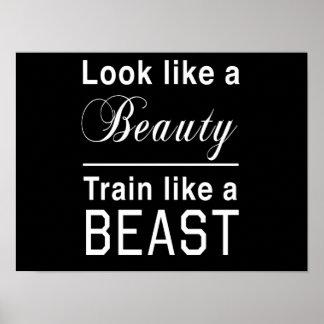 Look Like a Beauty Train Like a Beast Posters