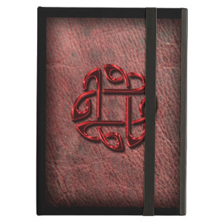 (Look like) shiny celtic knot on genuine leather Case For iPad Air
