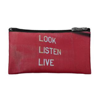 Look. Listen. Live Makeup Bag