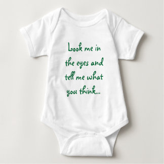 look me in the eyes baby bodysuit