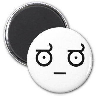 Look of Disapproval. 6 Cm Round Magnet