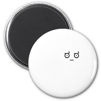 look of disapproval 6 cm round magnet