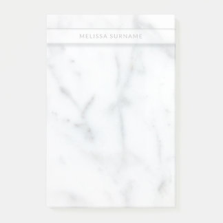 Look Of Marble Texture With Personalised Name Post-it Notes