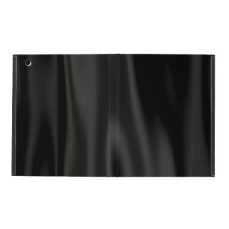 Look of Smooth Black Satin Fabric in Folds iPad Covers