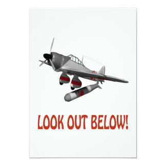 Look Out Below 13 Cm X 18 Cm Invitation Card