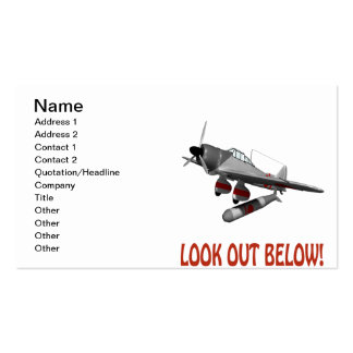 Look Out Below Pack Of Standard Business Cards