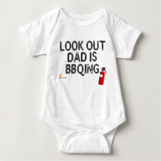 Look Out, Dad's BBQing! Baby Bodysuit
