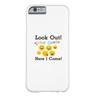 Look Out Third Grade  3rd Emoji Funny Gifts Barely There iPhone 6 Case