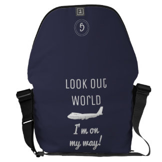 Look Out World Messenger Bag